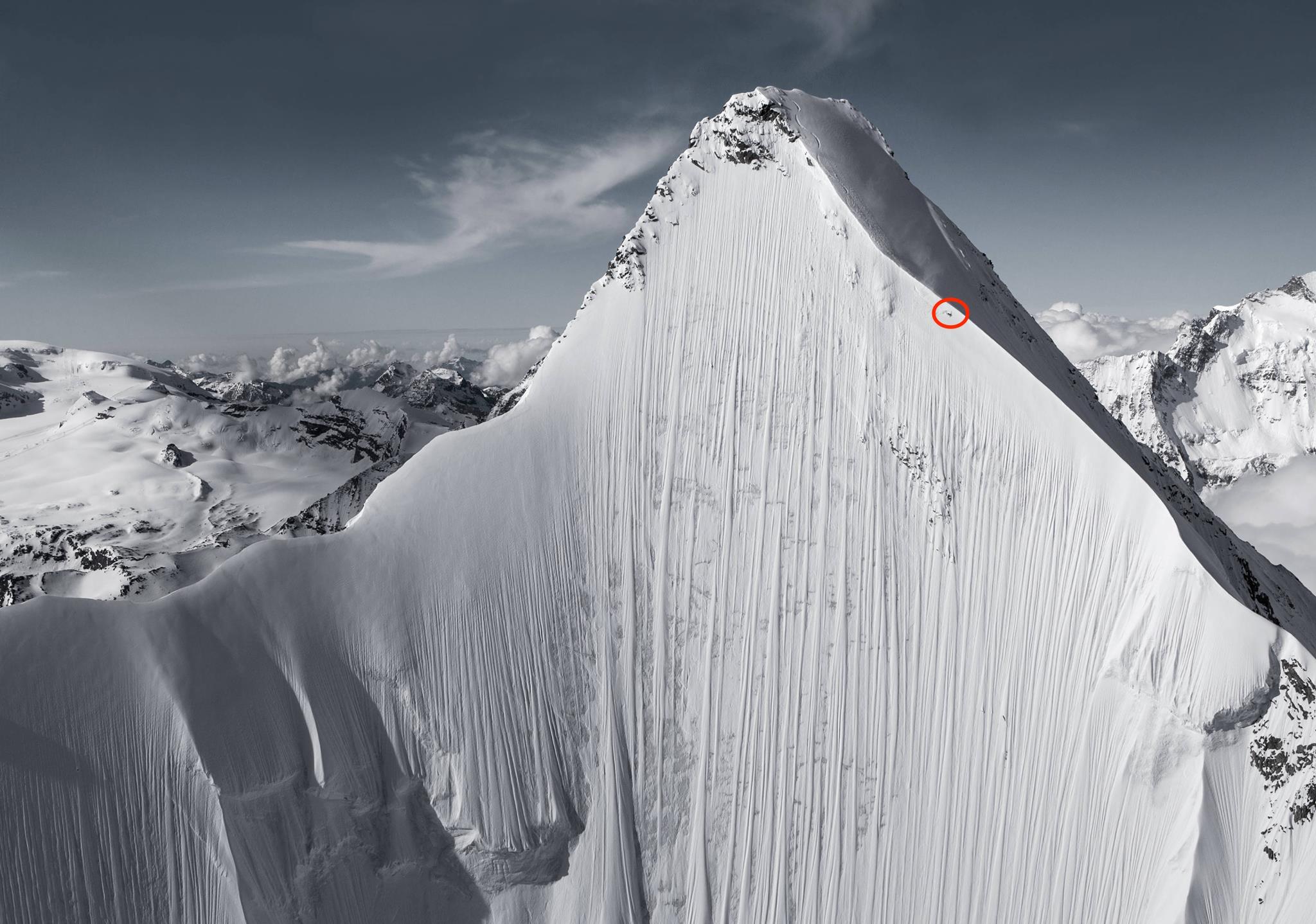 "Jérémie Heitz skiing for the film ""La Liste"". photo: red bull"